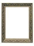 金黄艺术Nouveau框架 库存图片