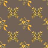 金黄花饰无缝的背景 向量 库存图片