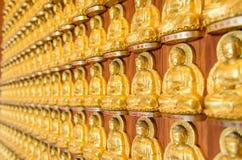 金黄菩萨雕象背景  免版税库存照片