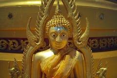 金黄菩萨,寺庙在泰国 库存图片