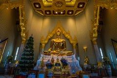 金黄菩萨,曼谷,泰国 库存图片