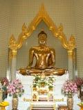 金黄菩萨, Wat Traimit寺庙,曼谷,泰国 免版税库存照片