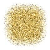金黄被加点的横幅 免版税库存图片