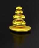 金黄被堆积的石禅宗平衡 免版税库存图片