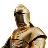金黄装甲的例证 库存图片