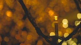 金黄装饰的光 图库摄影
