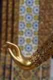 金黄角度的手 免版税库存照片