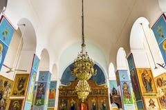金黄象壁画圣乔治` s教会米底巴约旦 免版税图库摄影