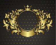 金黄象征漩涡花饰。 皇族释放例证