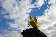 金黄车手在德累斯顿,德国 免版税图库摄影