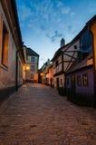 金黄车道的,普拉哈小的中世纪房子 免版税库存照片