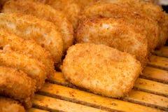 金黄酥脆鸡棍子是一道好开胃菜 库存图片