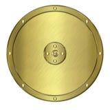 金黄金属盾或冠 库存图片