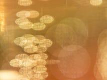 金黄长圆形和圈子 免版税库存照片