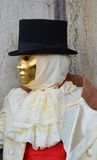 金黄面具在威尼斯,意大利,欧洲 免版税库存照片