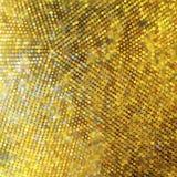 金黄马赛克。抽象背景 库存照片
