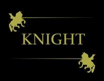 金黄骑士的例证 免版税库存图片