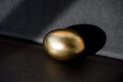 金黄鸡蛋、财富的标志和投资,箔的基于 精采图片 可能 库存照片