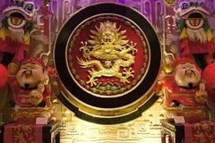 金黄龙红颜色中国文化 库存照片