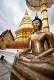 金黄Budha。 Doi Suithep 免版税库存图片