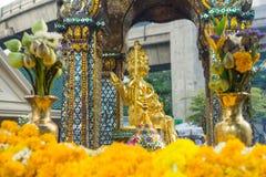 金黄Brahma图象在曼谷,泰国 库存图片