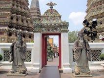 金黄Buddhas, Wat Pho寺庙,曼谷02 免版税库存照片