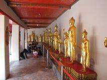 金黄Buddhas, Wat Pho寺庙,曼谷02 免版税库存图片