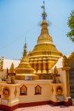 金黄stupa 在Bago曲折前进塔, Pegu镇  缅甸 缅甸 库存图片
