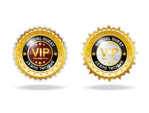 金黄VIP的成员 免版税图库摄影