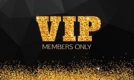 金VIP背景 VIP俱乐部 仅成员 VIP 向量例证
