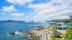 釜山市时间间隔和Haeundae在釜山靠岸在韩国 股票录像