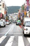 釜山汽车韩国街道 库存图片