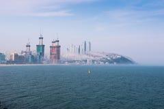 釜山风景韩国沿海城市 库存照片