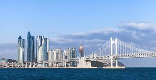 釜山,韩国海云台区  免版税库存照片