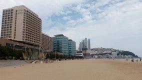 釜山Haundae海滩 免版税库存图片