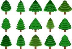 针叶树被设置的向量 免版税库存照片