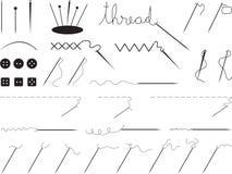 针和线程数 库存图片