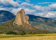 针岩石在克劳福德,科罗拉多 免版税库存照片