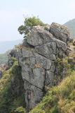 针岩石观点, Gudalur, Nilgiris, Tamilnadu,哥印拜陀 库存图片