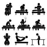 针灸按摩脊柱治疗者按摩物理疗法 皇族释放例证