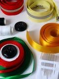 针线的缝合的辅助部件 免版税库存图片