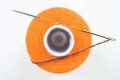 针缝合的短管轴 免版税库存照片