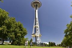 针西雅图空间塔 库存图片
