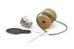 针顶针线程数 库存照片