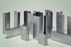 钉书针抽象大厦  免版税图库摄影