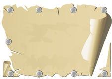 钉子老纸张 免版税库存照片