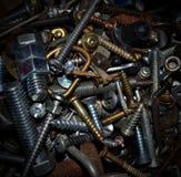 钉子,螺丝,基本要点 免版税库存照片