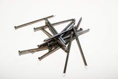 钉子-木匠业 库存照片