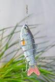 钓具和钓鱼诱剂 免版税库存图片