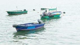 钓鱼三的小船 免版税图库摄影